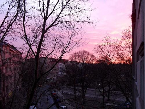 Sonnenaufgang in Berlin-Kreuzberg