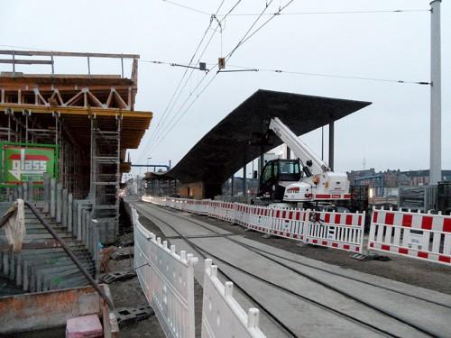 Neue Straßenbahnhaltestelle Berlin-Hauptbahnhof