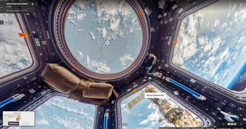 Blick in die ISS mit Google StreetView - Die Kuppel