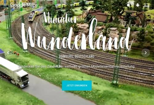 Miniatur Wunderland Hamburg bei Google Maps